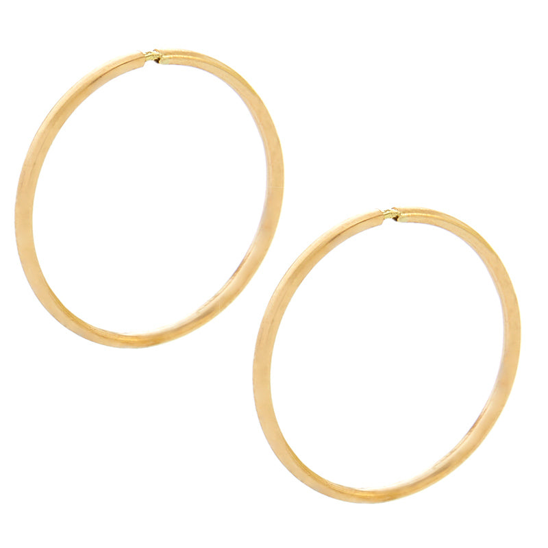10mm Solid Yellow Gold Hoop Earrings