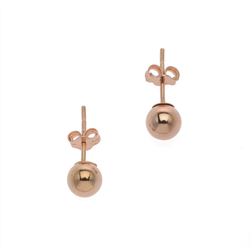 Small Rose Gold Ball Stud Earrings