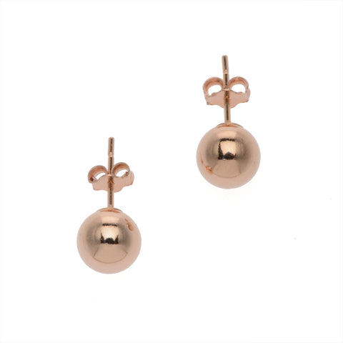 Medium Rose Gold Ball Stud Earrings