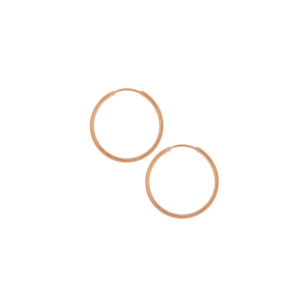 20mm Rose Gold Hoop Earrings