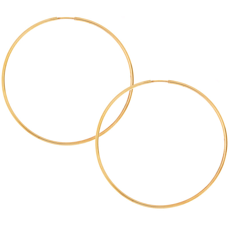 65mm Yellow Gold Hoop Earrings
