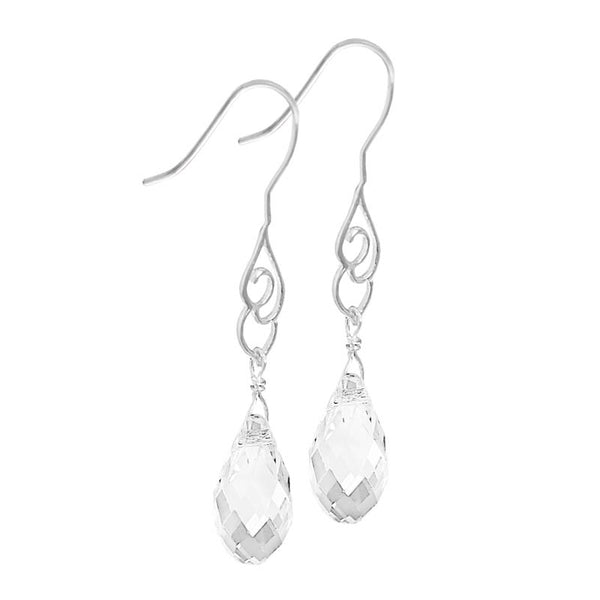Briolette Crystal Drop Earrings