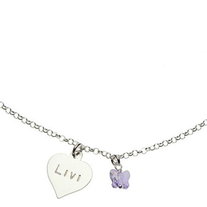 Heart Butterfly Necklace
