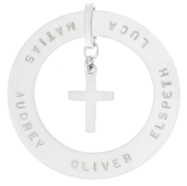 Slice Pendant with Cross
