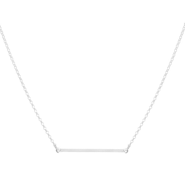 Grande Silver Bar Necklace
