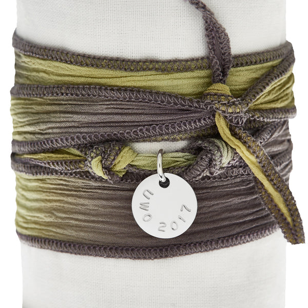 Yellow Grey Silk Wrap