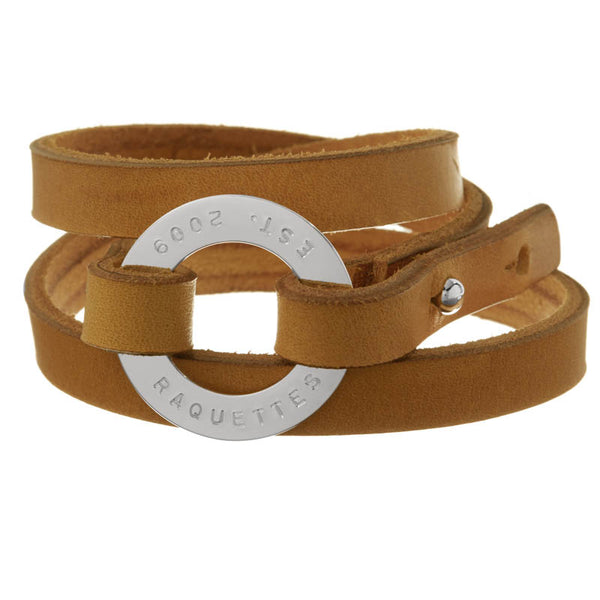 Personalized Yellow Leather Cuff