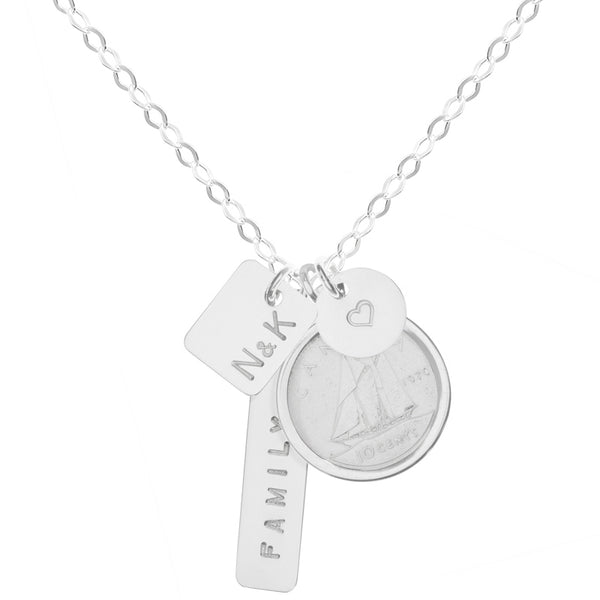 Family Connection Dime Necklace