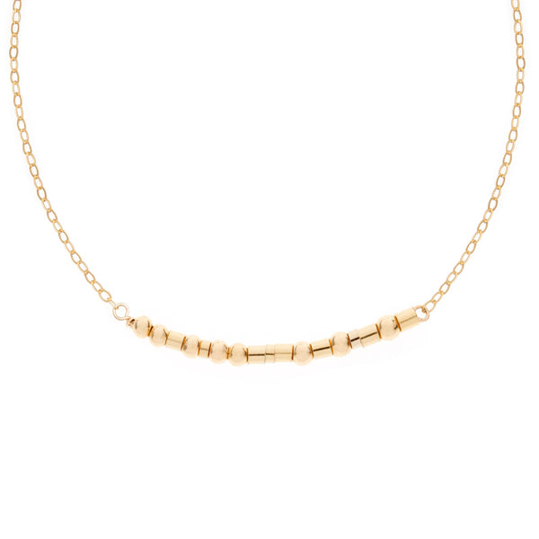 Gold Morse Code Necklace