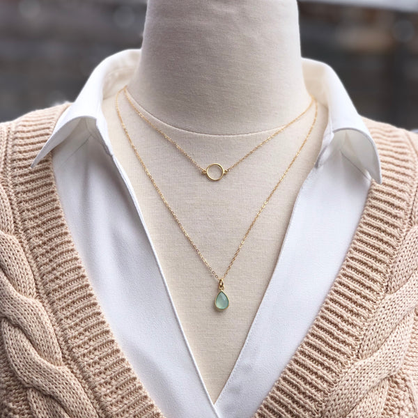 Golden Chalcedony Layered Necklaces