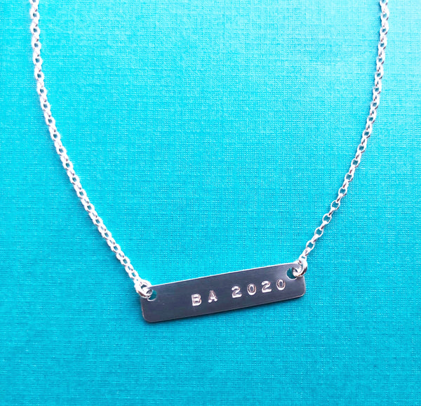 Graduation Bar Necklace