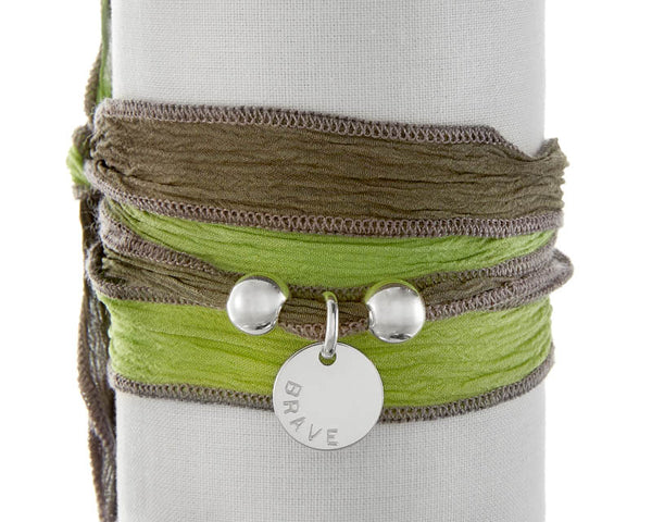 Lime Grey Silk Wrap