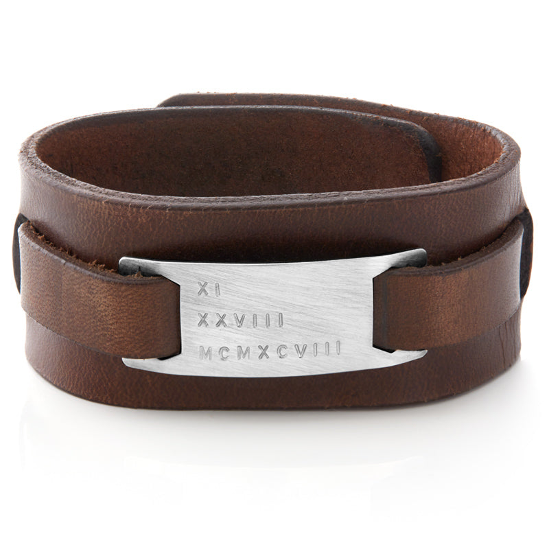 Men's Brown Leather Cuff