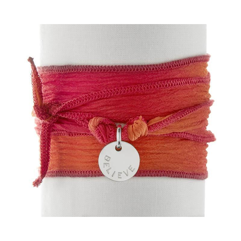 Orange Pink Silk Wrap