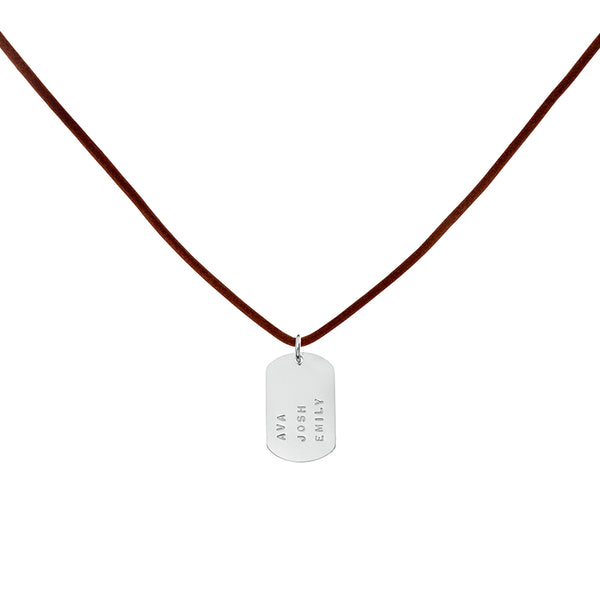 Peel Pendant on Thin Leather
