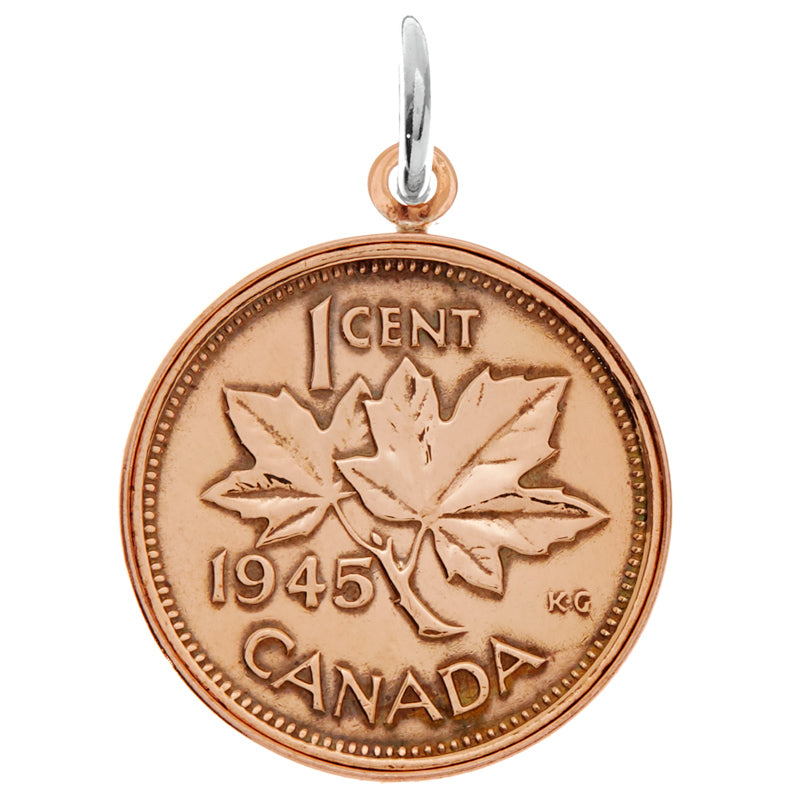 Canadian Penny Charm Copper Edged