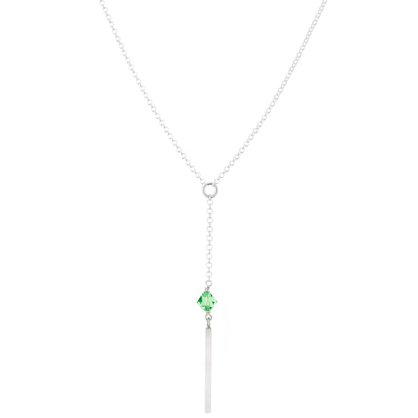 Peridot Lariat Necklace