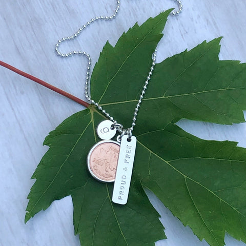 Proud + Free Initial Penny Necklace
