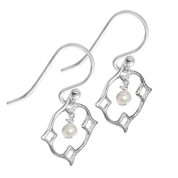 Quatrefoil Pearl Earrings
