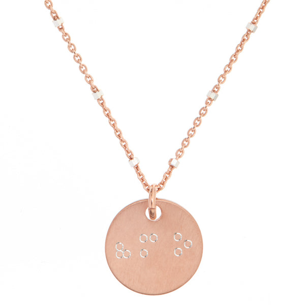 831 Rose Gold Braille Necklace