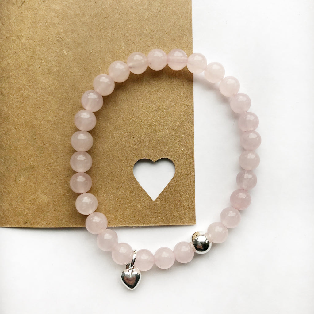 Rose Quartz Sweetheart Bracelet