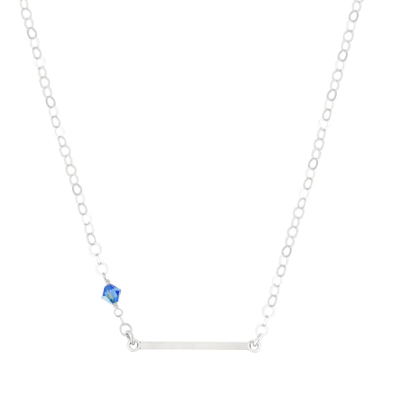 Sapphire Bar Necklace
