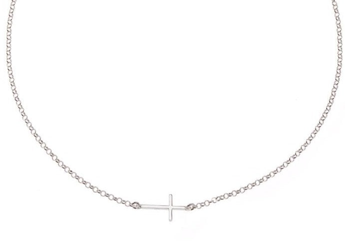 Side Cross Dime Necklace