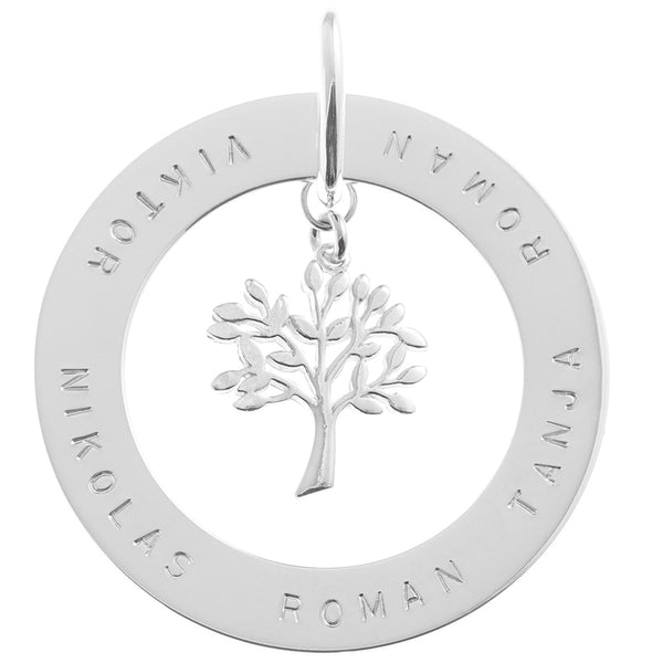 Slice Pendant with Tree of Life