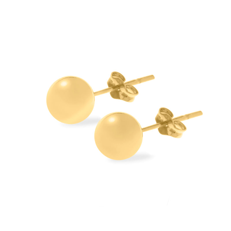 Small Yellow Gold Ball Stud Earrings