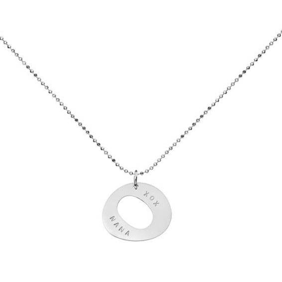 Zing Pendant On Diamond Cut Ball Chain
