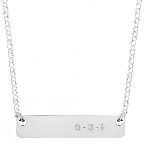 831 Mini Name Plate Necklace