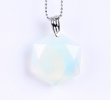 Faceted Hexagonal Natural Gemstone Necklace - wild ascension