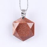 Faceted-Hexagonal-Natural-Gemstone-Necklace-Goldstone