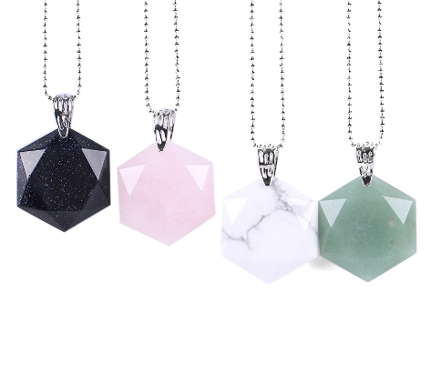 Faceted-Hexagonal-Natural-Gemstone-Necklace