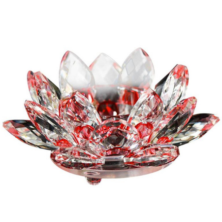 Glass crystal lotus flower candle holder glass crystal lotus flower candle holder red mightylinksfo