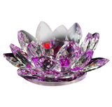 Glass-Crystal-Lotus-Flower-Candle-Holder-Purple