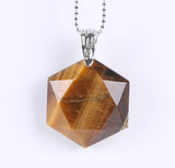 Faceted-Hexagonal-Natural-Gemstone-Necklace-Tigers-Eye