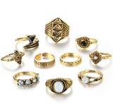 Merlin's-Vintage-Knuckle-Ring-Set-Gold