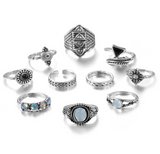 Merlin's-Vintage-Knuckle-Ring-Set-Silver