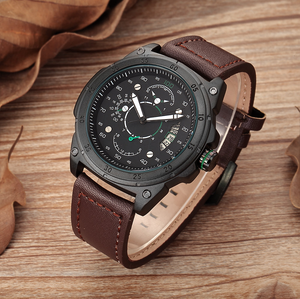 Driver Brand Leather Watch