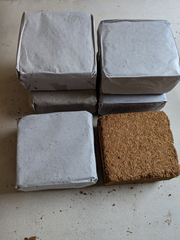 Coir (Coconut Fiber) Mulch Blocks - Six Pack