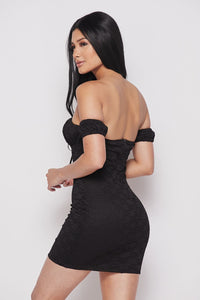 Beth Off Shoulder Dress(Black)