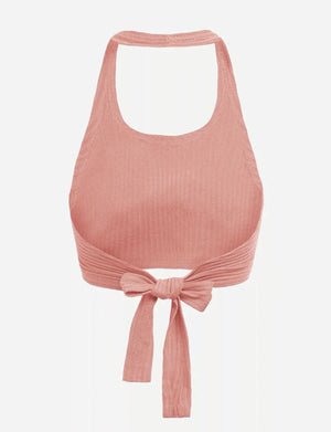 Barely Here Halter Top (Peach)