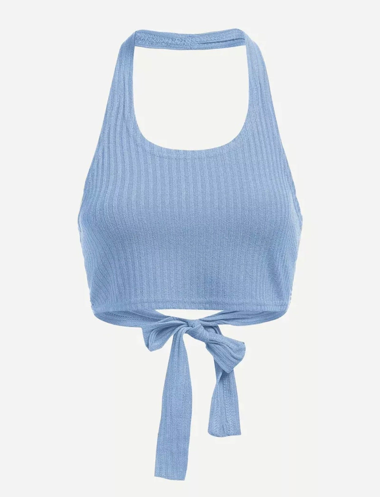 Barely Here Halter Top (Blue)
