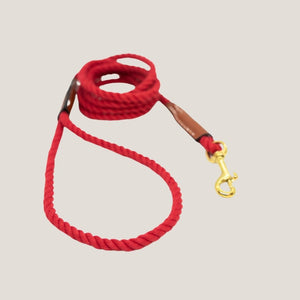 Cotton Rope Lead Red