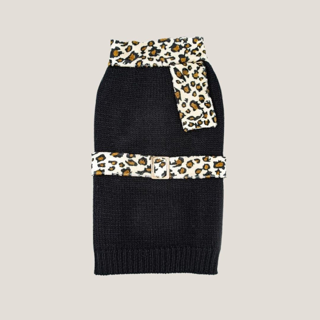 Milano Dog Sweater - Black