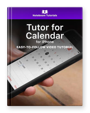 Tutor for Calendar for iPhone