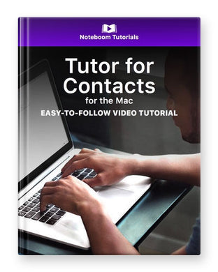 Tutor for Contacts for the Mac