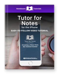 Tutor for Notes for iPhone