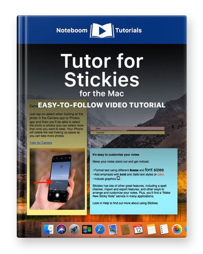 Tutor for Stickies for the Mac